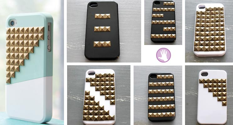 Haz tu funda para movil con tachuelas - Decorar funda movil ...